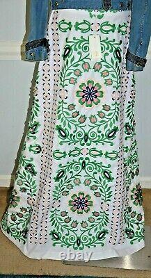 New NWT $1,995 Tory Burch Maine Embellished Garden Party Dress Long Maxi Skirt 8