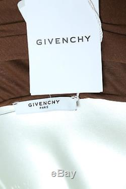 New NWT Givenchy Brown Long Ruched Jupe Longue Maxi Cocktail Skirt 42 Orig $1500