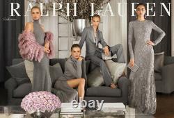 New Ralph Lauren Purple Label Collection Jacinda Long Maxi Dress Runway Skirt 8