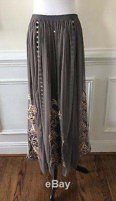 New Sundance Adorabella Mesh Embroidered Maxi Skirt Size Medium $188 Rare