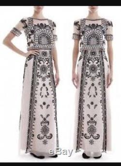 New Temperley London Delphia Embroidered Crystal Maxi Skirt Evening USA 4