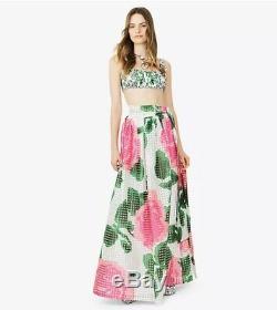 New Tory Burch Daniella Nantucket Garden Party Floral Long Maxi Dress Skirt 10
