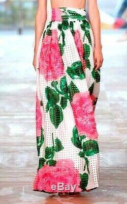 New Tory Burch Daniella Nantucket Garden Party Floral Long Maxi Dress Skirt US 6