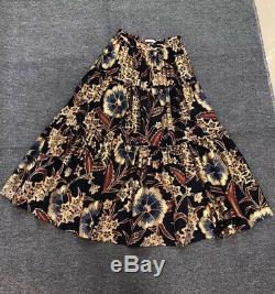 New Ulla Johnson Chantal Floral-print Silk Maxi Skirt Sz US 4,6,8 SOLD OUT