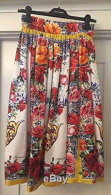 New With Tags DOLCE & GABBANA Majolika Print Maxi Skirt 38/4