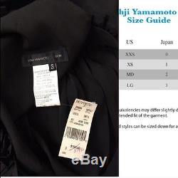 New YOHJI YAMAMOTO Black 100% Silk Jute trim Maxi Long Skirt 3 M