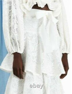 New Zimmermann the lovestruck lace skirt maxi ivory white 0 XS S 6 8
