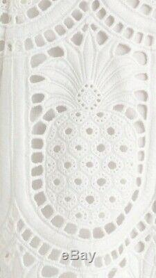 New Zimmermann wayfarer embroidery long dress maxi white ivory 0 1 XS S 8 10