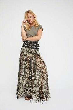 Nicholas K Free People Dakota Maxi Skirt leather S $500 Retail