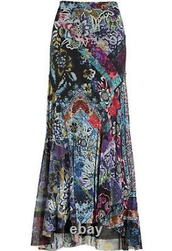 Nwt $395 Fuzzi Floral Patchwork Maxi Tulle Skirt S