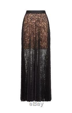 Nwt Bcbg Maxazria Esten Pleated Lace Maxi Skirt
