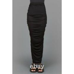 Nwt Givenchy Long Draped Skirt In Black Size 4/ It 40 Msrp $1155