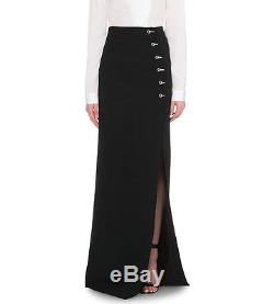 Nwt Mugler Long Fitted Cady Eyelet-detail Stretch-crepe Skirt