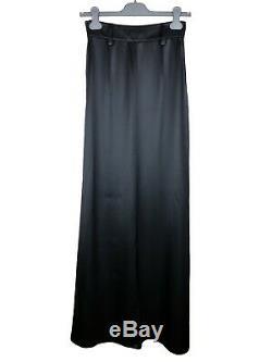PRADA F/W 2017 RUNWAY Black Silk Satin Maxi Long Skirt IT40/US6 NWT
