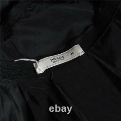 PRADA Womens Black Maxi Long Full A-Line Flared Skirt IT40 US4 S
