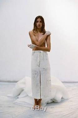 Paloma Wool Rare Linen Subtle Faces Long Slit Skirt- Totokaelo Garmentory