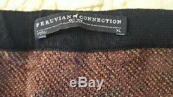 Peruvian Connection Persian Kilim Skirt L XL new knit pima cotton long maxi $179