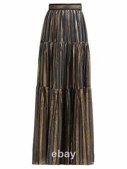Peter Pilotto Lurex Striped Shiffon Silk Skirt