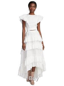 Philosophy DI Lorenzo Serafini White Maxi Frill Skirt