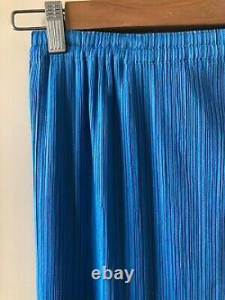 Pleats Please Issey Miyake long blue skirt, size 2