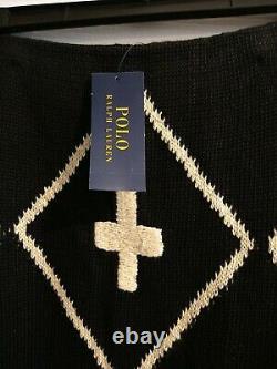Polo Ralph Lauren Southwestern Style Black Brown Long Skirt Size Medium