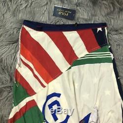 Polo Ralph Lauren Womens Long Skirt Sz 2 Austin Nautical Style Silk NWT $498