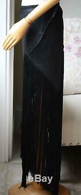 Proenza Schouler Asymmetric Fringed Basketweave Woven MIDI Skirt Us 6 Uk 10
