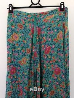 RARE Spell Designs FOLK TOWN Maxi Skirt Turquoise Size M