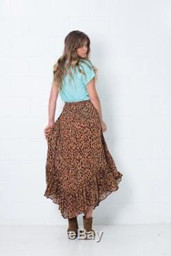 RARE Spell Designs Saphari Kerchief Maxi Skirt Size S
