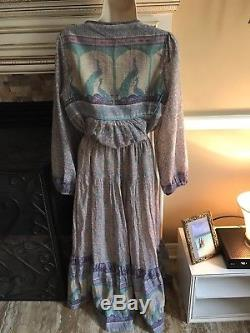 RARE Spell and the Gypsy Xanadu Maxi Skirt Opal L