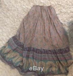 RARE Spell and the Gypsy Xanadu Maxi Skirt Opal XS