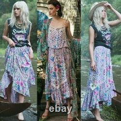 RARE Spell & the Gypsy Collective BABUSHKA Maxi Midi Skirt LAVENDER XS S