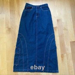 RARE vintage 90s KIK GIRL Denim Long Skirt