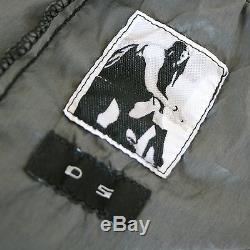 RICK OWENS DrkShdw grey nylon long slim drawstring Delft Pillar maxi skirt M NEW