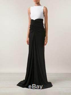 RICK OWENS LILIES Black Jersey Knit Fishtail Maxi Skirt 40 US 4