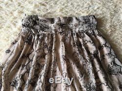ROBERTO CAVALLI beige maxi python snake print A line skirt S 40