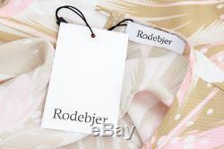 RODEBJER NEW Bimori Light Ochre Yellow Pink White Floral Print Silk Maxi Skirt M