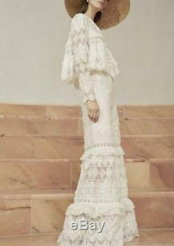 ROMANTIC STUNNER! Alexis Hisa Guipure Lace Maxi Skirt size XS, S, M, L