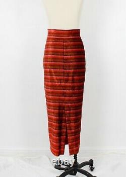ROMEO GIGLI G velvet stripe stretchy slim pencil long maxi skirt S, M
