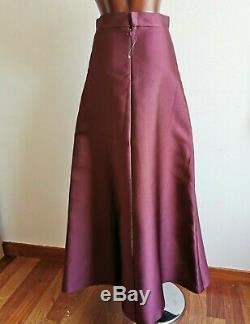 RRP 740 MAX MARA Elegante Long Skirt in SILK Blend 6USA 8GB 36D 40IT