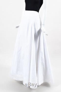 Ralph Lauren Black Label NWT $998 White Cotton Full Maxi Skirt SZ 8
