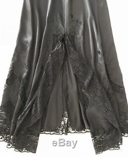 Ralph Lauren Blue Label Collection Black Antique Embroider Lace Skirt Purple