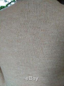 Ralph Lauren Camel Hair Blend Knit Maxi Skirt & Turtleneck Set Size Large