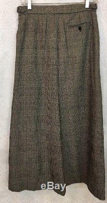 Ralph Lauren Collection Skirt Long Black And White Cashmere Size 6
