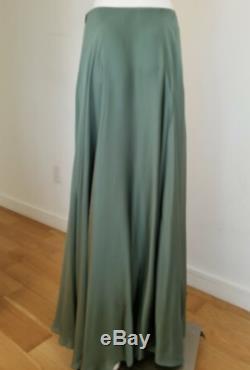 Ralph Lauren Collection Woman's Long Maxi Flare Skirt 100% Silk Size Medium 8