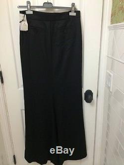 Ralph Lauren Full Length A Line Black Maxi Skirt NWT Size 4 Retail $898.00 Wool
