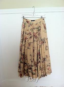 Ralph Lauren Maxi Skirt Vintage Blue Label Cowboy Western Cotton 4