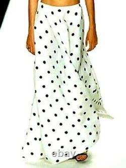 Ralph Lauren Purple Label Collection Long Maxi Dress Polka Dot Runway Skirt US 4