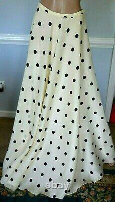 Ralph Lauren Purple Label Collection Long Maxi Dress Polka Dot Runway Skirt US 6