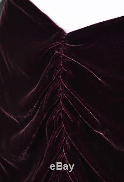 Ralph Lauren Purple Label Purple Velvet Draped Maxi Skirt SZ 10